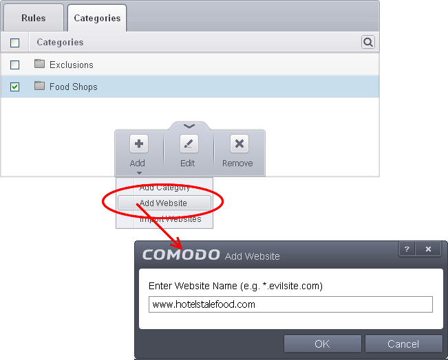 Blockallows websites to users of your computer network security enter the full url or a part of url with a wildcard character of the websites to be included in the category ccuart Image collections