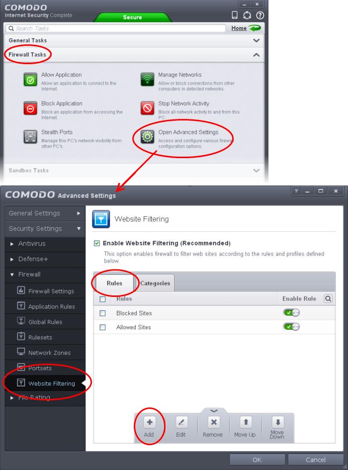 how to block websites on windows 7 firewall