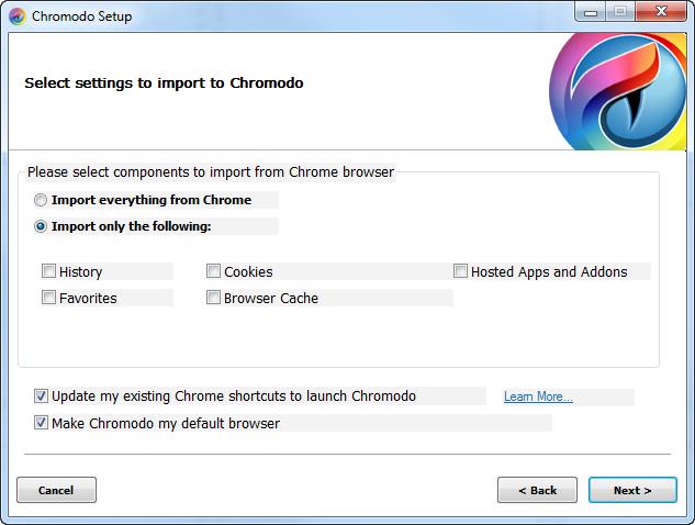 Chromodo full screenshot