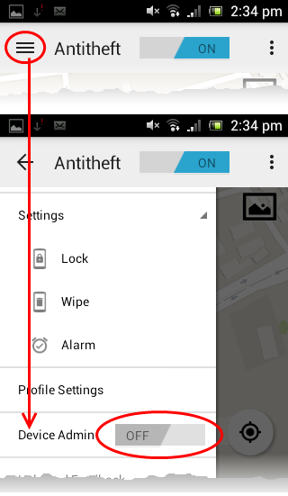Activating Device Admin Rights, Identity Theft Protection