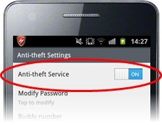 Configuring Anti-Theft Settings, Anti-Theft Protection