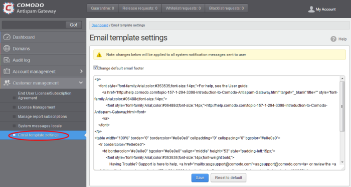Notification Email Settings, Antispam Software, Email