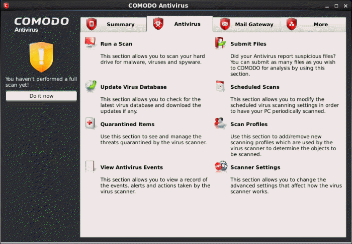 Comodo Antivirus for Linux Version 1 0 - Introduction