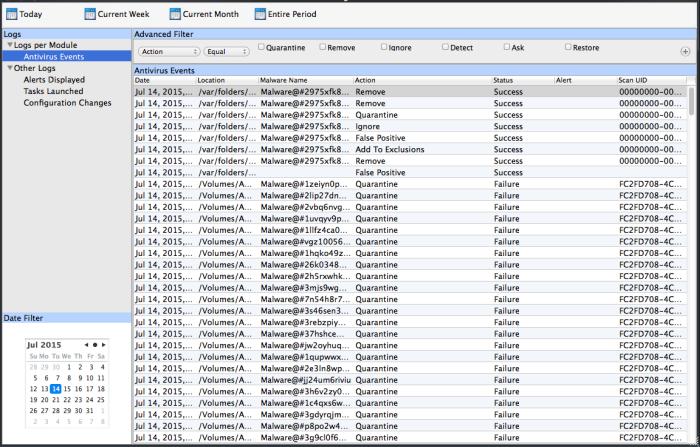 View Logs, Log Monitor, COMODO | Comodo Antivirus For MAC