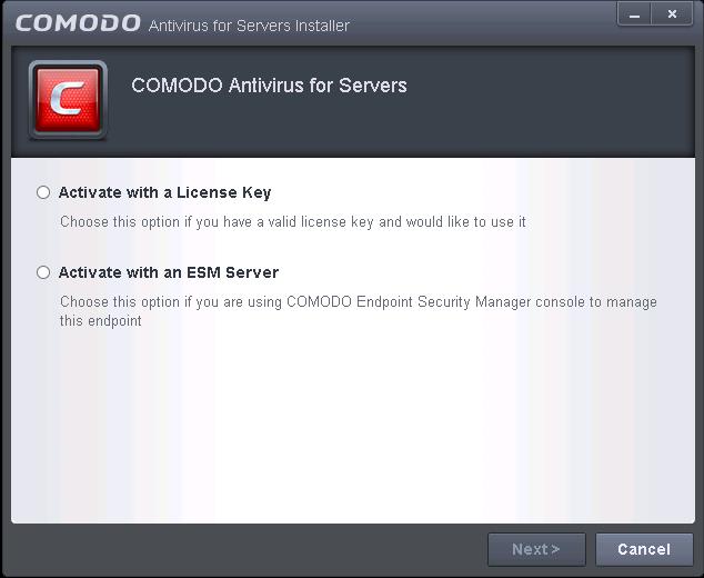 Comodo Antivirus For Servers Software - Installation, Comodo