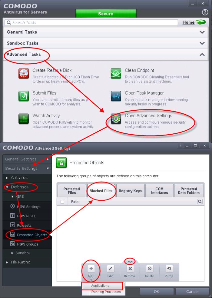 antivirus blocking downloads