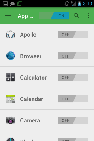Add Apps to be Protected, Android Mobile Security App, Comodo
