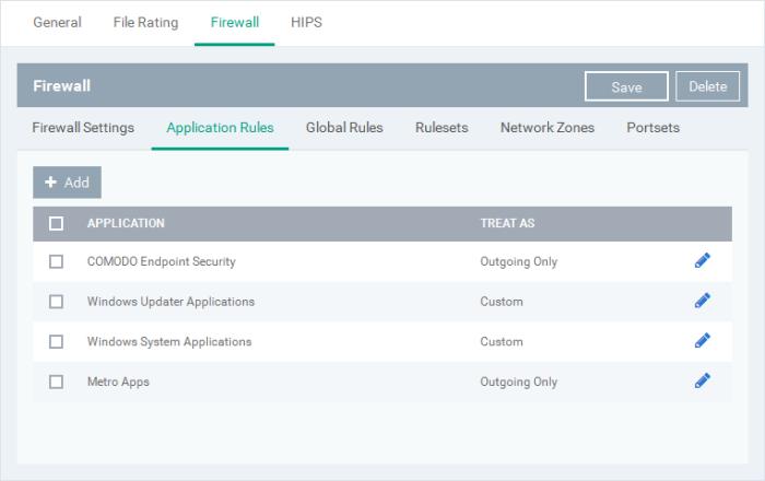 Firewall Settings, PC Firewall, Firewall Protection, Comodo