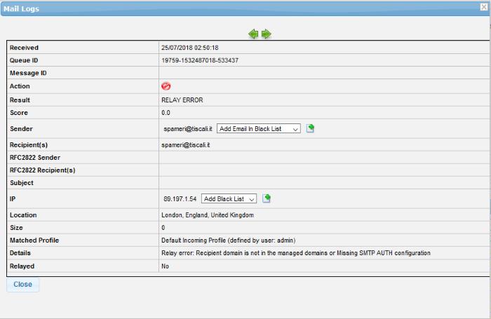 Comodo Dome Antispam Signature Whitelist, Whitelist Emails