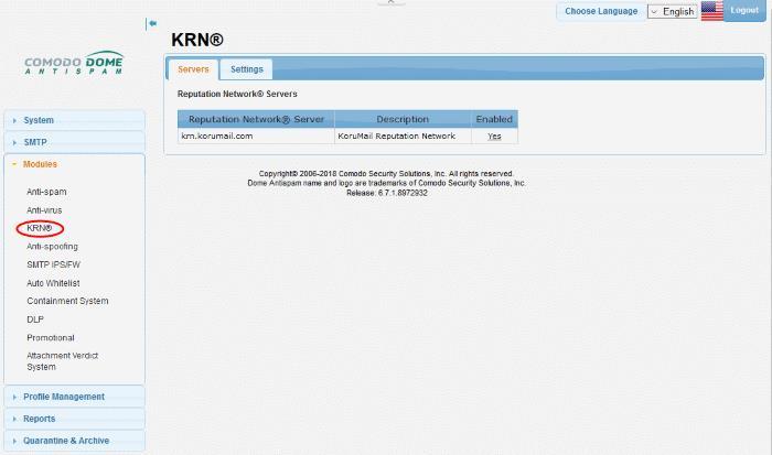 Korumail Reputation Network (KRN), Comodo Dome Antispam | COMODO