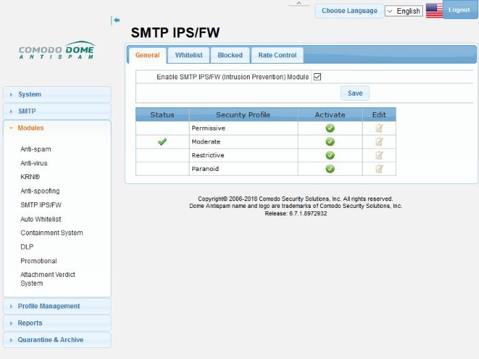 SMTP IPS/FW, Intrusion Prevention System, Intrusion Prevention
