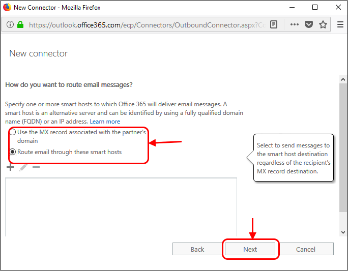 Outbound Flow Setup on Office 365,Secure Email Gateway