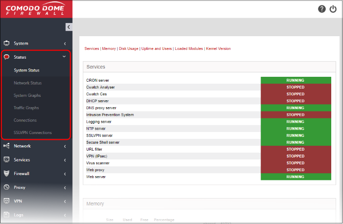 View DFW Virtual Appliance, Network Security System, Comodo Firewall