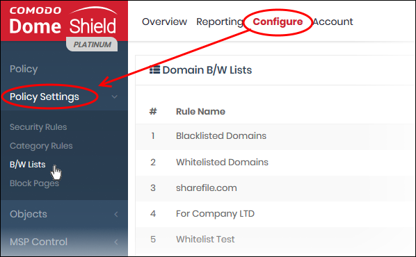 Manage Domain Blacklist and Whitelist, Computer Network Security