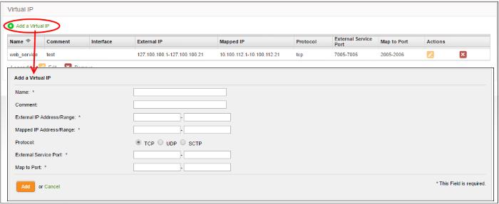 Configure Virtual IP for Destination Network Address