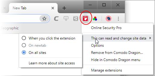 Comodo Online Security ExtensionPro , Free Web Browser Web