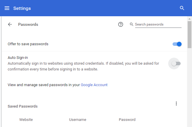 Manage Website Passwords, Password Protect Website | Dragon Browser