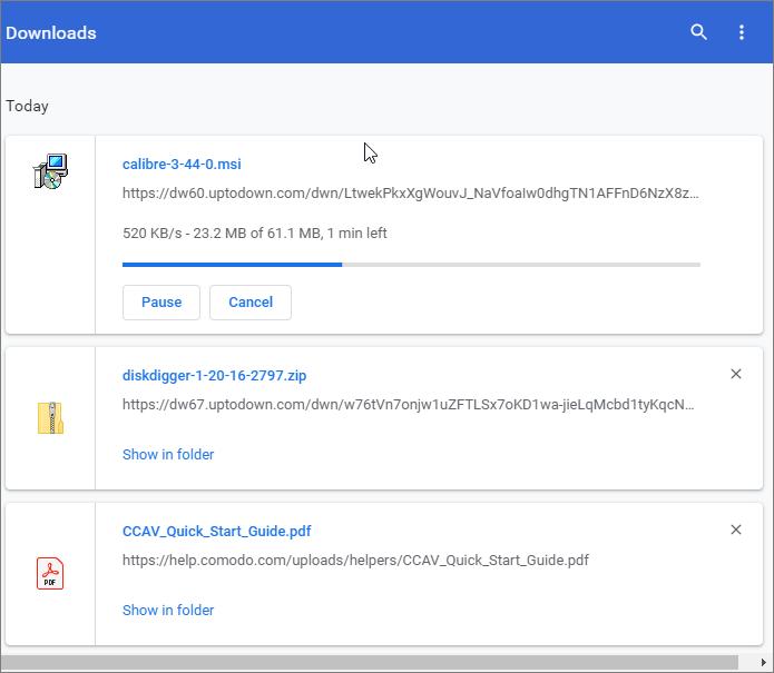 Comodo Dragon - Download A File   Web Browser