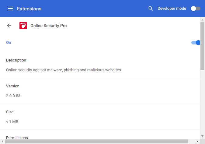 Comodo Dragon - Manage Extensions | Web Browser