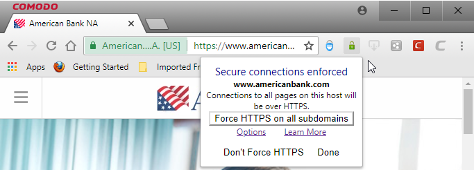 Force Secure Connections Best Browser Network Security Comodo Dragon
