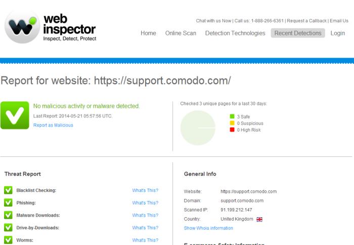 Comodo web inspector download google