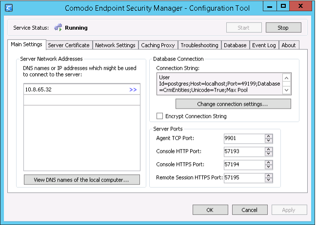 esm configuration tool ssl certificate authority endpoint