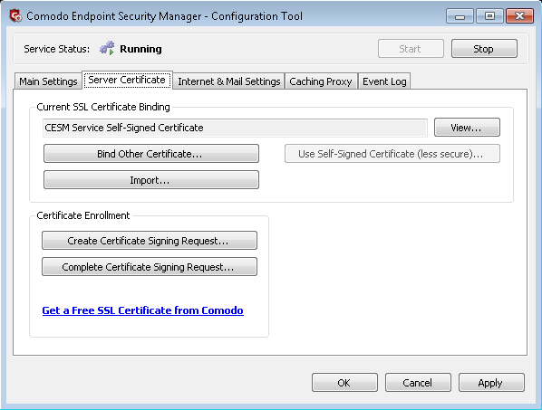 Server Certificate, Free SSL Certificate | Comodo Endpoint Security ...