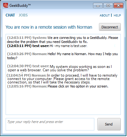 remote control of your computer can only go ahead if you grant permission our technicians will always request your permission via the chat window