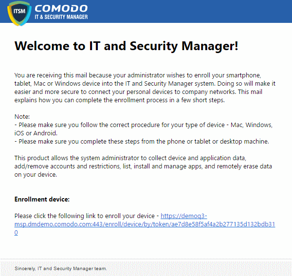 Quick Start Guide - Comodo IT And Security Manager, Virus Protection