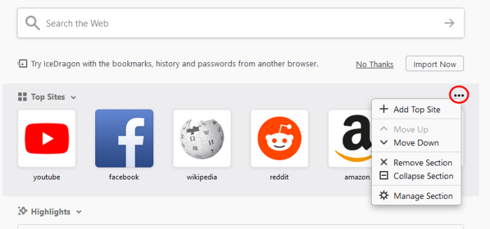 Customize Your New Tab Page, Search Engine | Web Browser & Internet