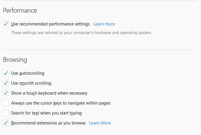 Configure IceDragon Performance and Browsing Settings, Comodo
