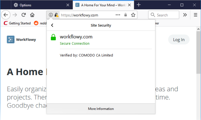 Comodo IceDragon - SSL Certificates and Secure Connections