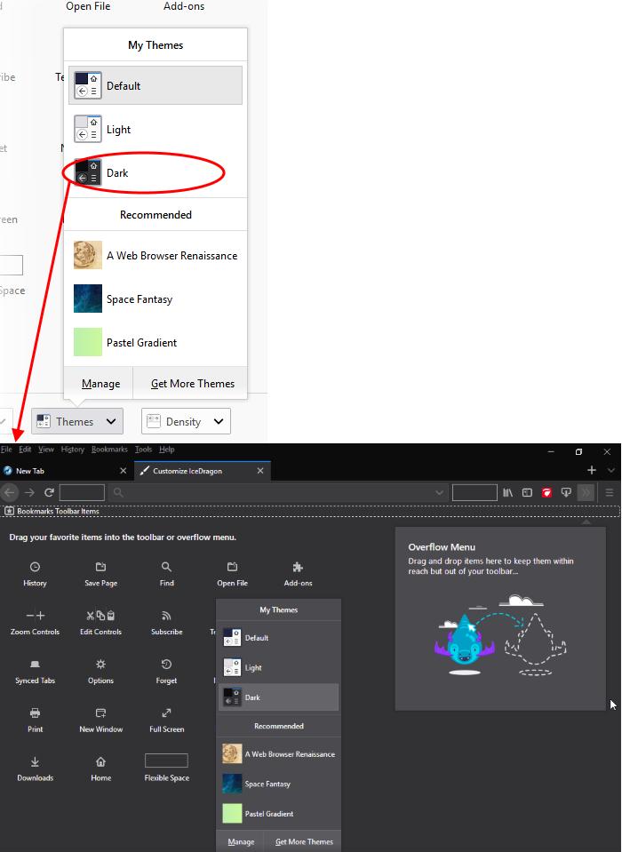 Customize The Toolbar - Comodo IceDragon | Web Browser & Internet