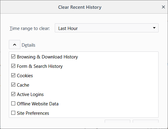 delete browsing history configure history settings web browser