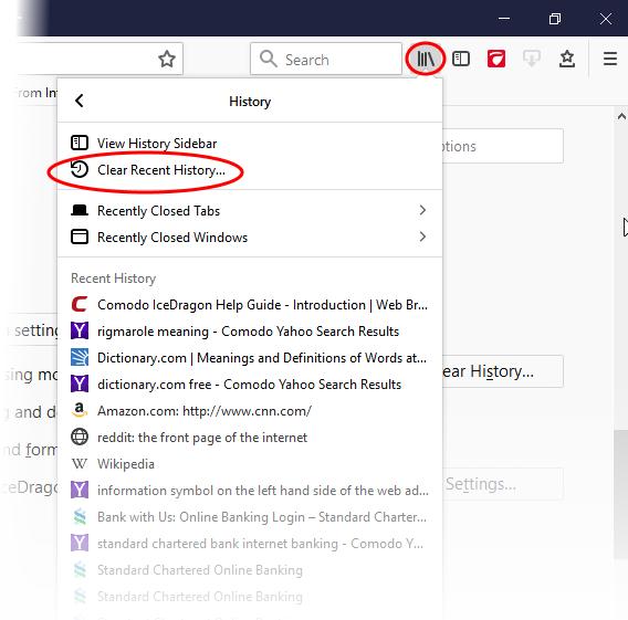 Delete Browsing History, Configure History Settings|Web