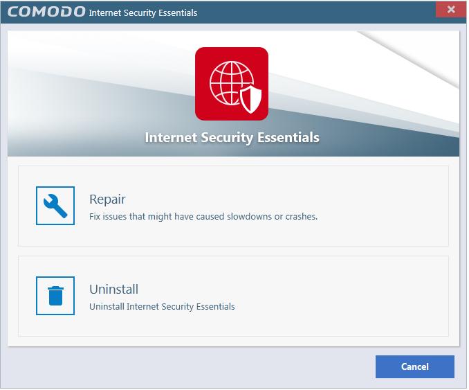 Remove Comodo Internet Essentials Network Security Ssl Certificate