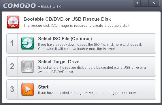 Downloading Comodo Rescue Disk, Virus Scan,Data Rescue,Bootable
