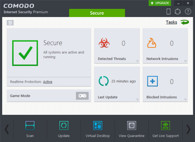 Free Internet Security >> Comodo Internet Security Antivirus Protection Firewall