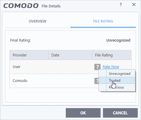 Manage Blocked Items, Blocked Applications, Comodo Internet Security