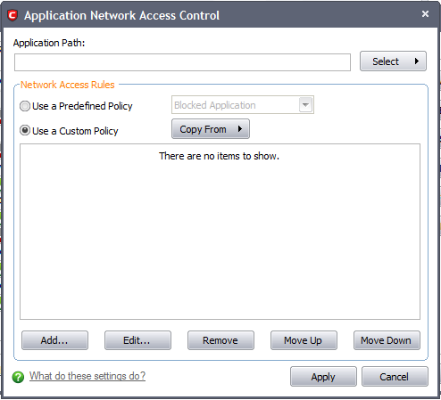 Application Rules | Comodo Internet Security | Comodo Internet