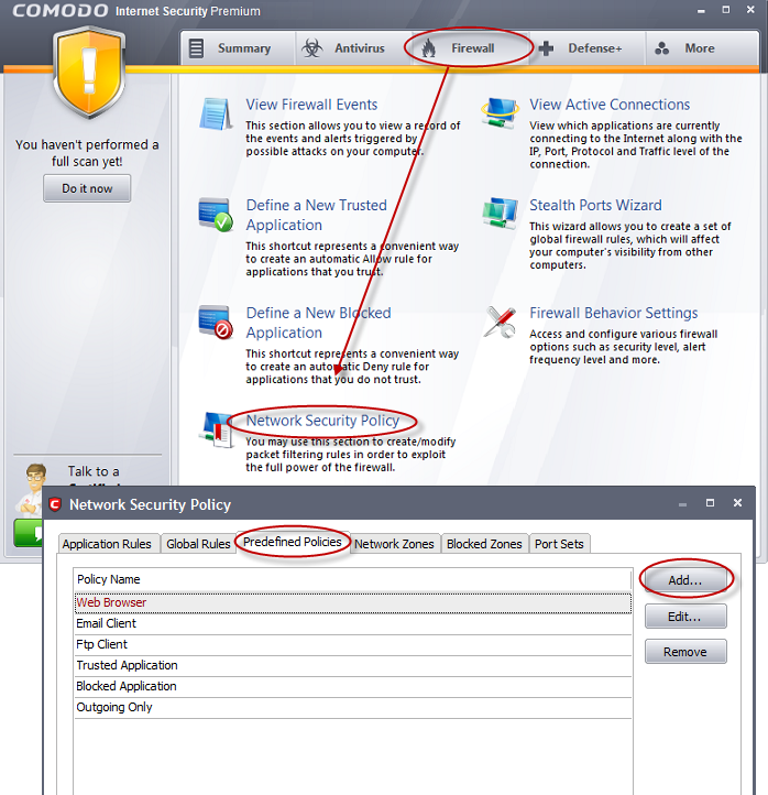 Enabling File Sharing Applications like BitTorrent and Emule,Comodo
