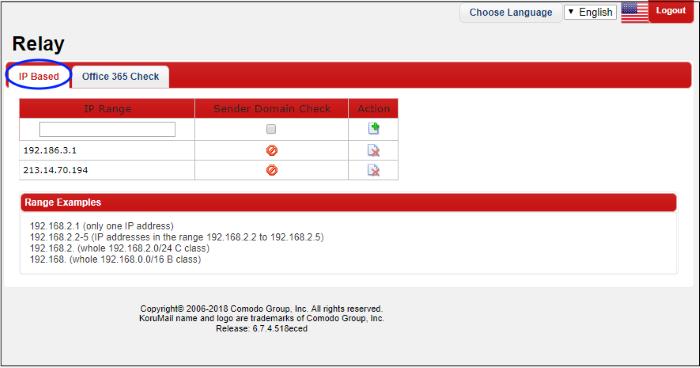 SMPT Relay, SMTP Server Address, KoruMail Messaging Gateway