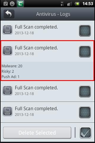 Comodo Mobile Security Version 2 5, Antivirus Scanning
