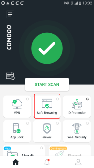 Safe Browsing, Best Mobile Security App Android, Comodo