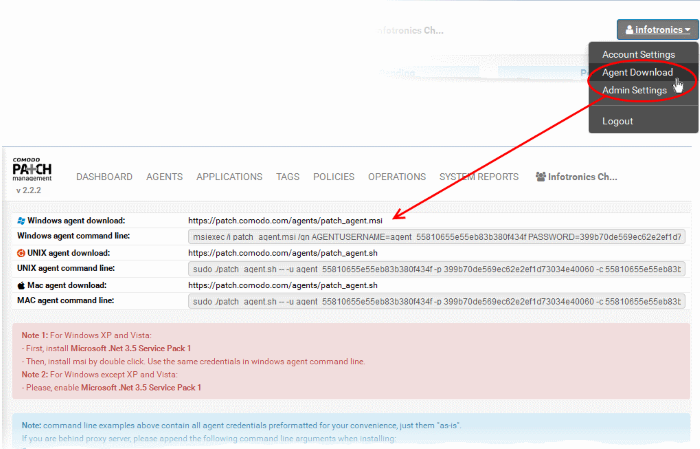 Enroll Endpoints By Installing The Agent, Patch Management