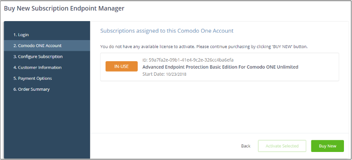 Add / Upgrade Endpoint Manager, Comodo One Support | COMODO