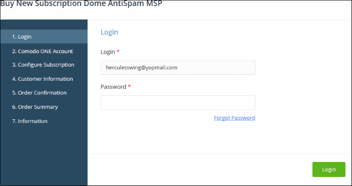 Add Comodo Dome Antispam - MSP, Online Help Desk Software