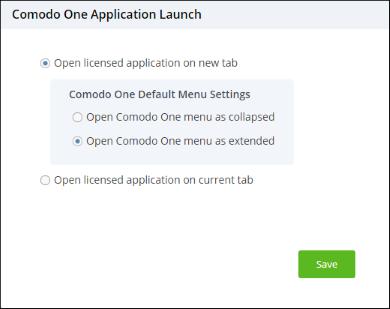 Configure C1 Settings, Managed Desktop Services, Comodo One