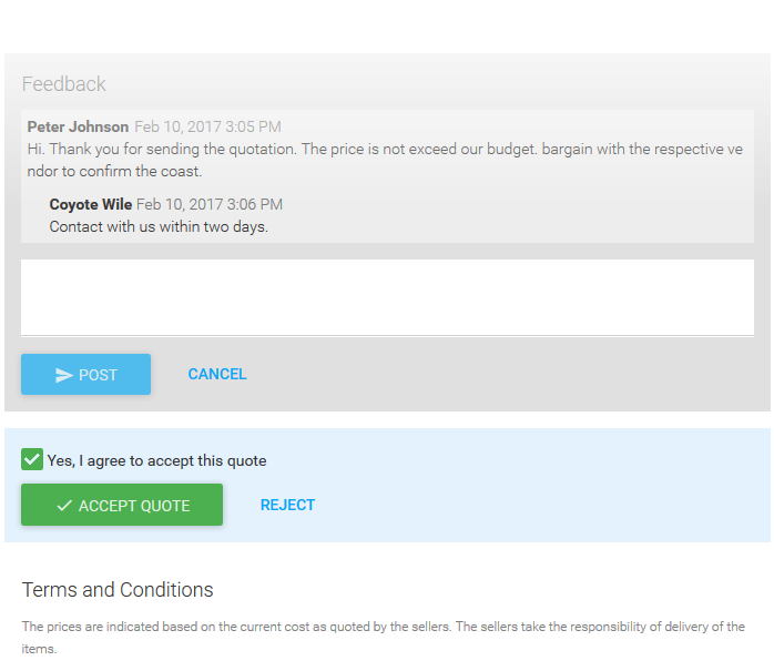 Quote Manager Answer Feedback, Processing Quotes, Quote