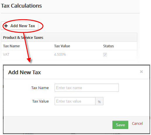manage tax calculations customer relationship management crm